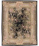 RugStudio presents Due Process Aubusson Marseilles Black Flat-Woven Area Rug